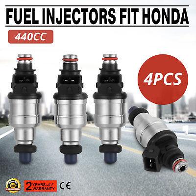 New Free clips Fuel Injectors 440cc Fit Honda Civic 1.6L EX//SI SOHC VTEC Use