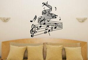 Note musicali musicale soggiorno camera da letto cena decalcomania