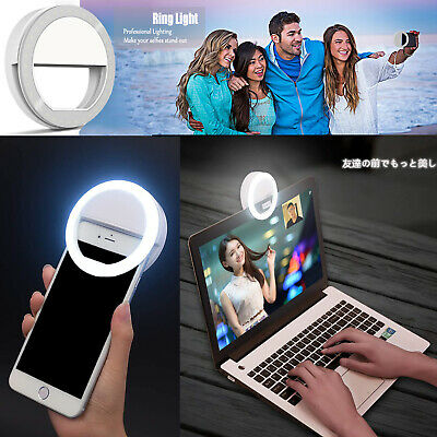 Mini Selfie Ring Light Circle Clip on Phone with Rechargeable Battery and 36 LED 3 Light Modes for Smart iPhone Laptop Camera Video(Pink)