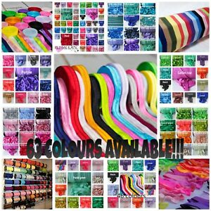 1-3-or-5-metres-High-Quality-Soft-15mm-PREMIUM-FOLD-OVER-ELASTIC-63-COLOURS