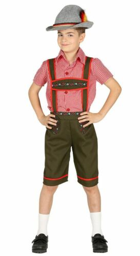 Boys Bavarian German National Dress Oktoberfest Fancy Dress Costume Child Outfit