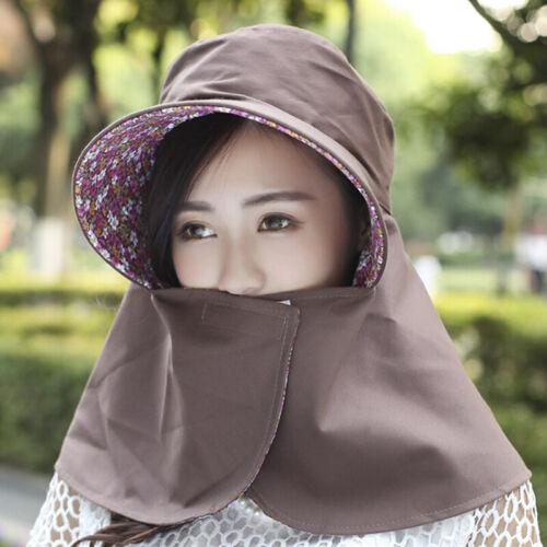 Sommer Dame Frauen Hut Outdoor UV Schutz Gesicht Faltbare Sonnenhut Mode BCD