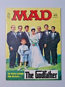 Vintage MAD Magazine NO. 155 Dec. '72 The Godfather Issue Magazine 9243