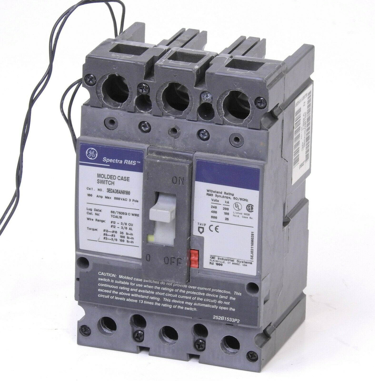 GE Spectra Circuit Breaker