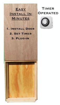 Automatic Chicken Coop Door Opener Timer Operated Complete Kit