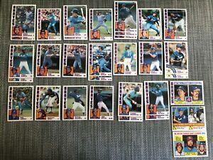 1984-ATLANTA-BRAVES-Topps-Baseball-Team-Lot-23-Cards-9-Ex-MURPHY-BUTLER-NIEKRO