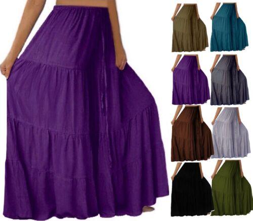 S222 taglie Pantaloni Fashion donna Ruffle Lotustraders Boho Gauchos forti Leg Pqzr5wq