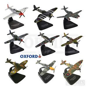 Oxford-Aviation-Diecast-Modele-Avions-echelle-1-72-SPITFIRE-messerschmit-Hurricane