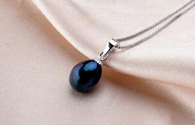 Aus Dem Ausland Importiert Damen Kette Anhänger 925 Sterling Silber Süßwasser Perlen Rhodiniert Hochglanz Farben Sind AuffäLlig