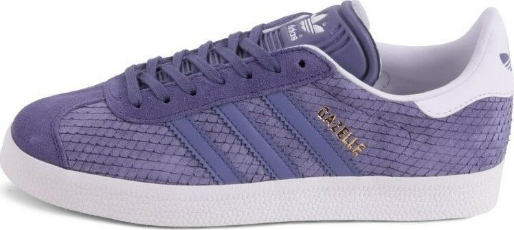 Adidas Originals Gazelle Super Purple Purple Purple Light Lavender gold White BB5173 Women's 7 29e825