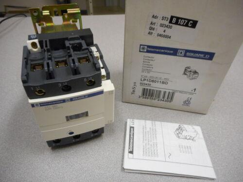 TELEMECANIQUE SQUARE D LP1D8011BD TESYS CONTACTOR 24VDC 37KW,400V 60HP-460V