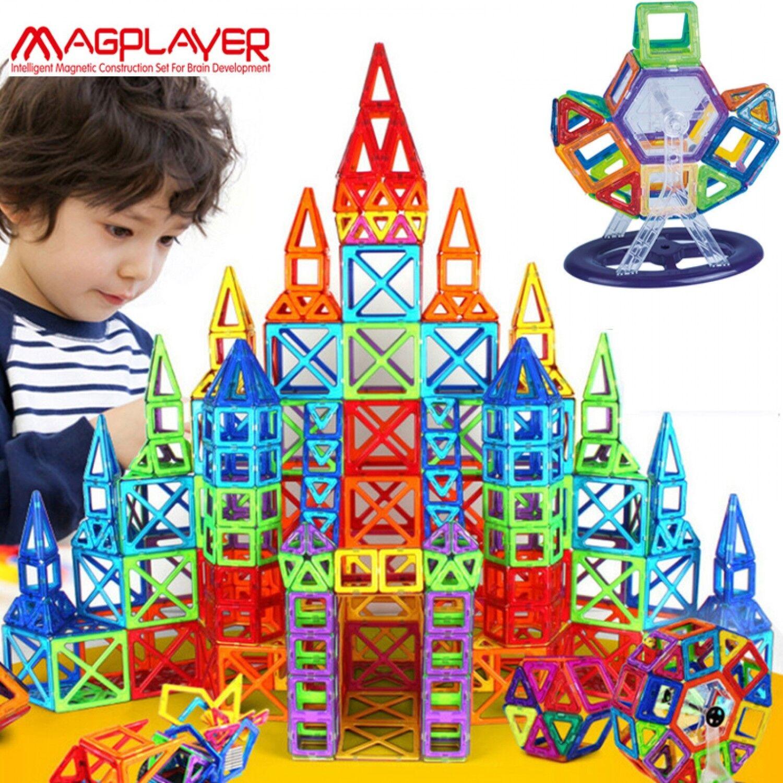 BLOQUES MAGNÉTICO CONSTRUCCIÓN 3D juguetes para niños Niños Educativo Aprender Jugar