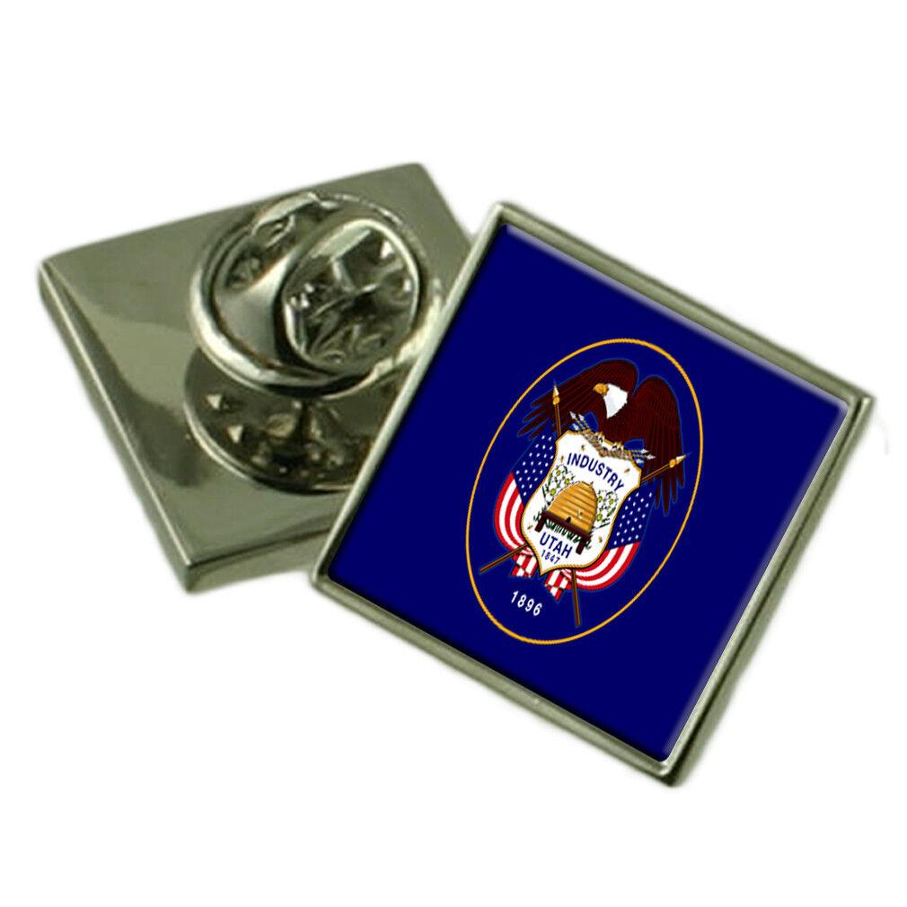 UTAH bavero Pin argentoo Sterling 925 BADGE Incisa Personalizzata Personalizzata Personalizzata Scatola 27ca57