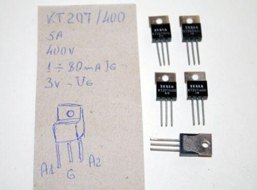 KT207//400 Tesla 400V 5A Triac Thyristor AC Motor//Dimmer TO-220 NEW 35A 4pcs