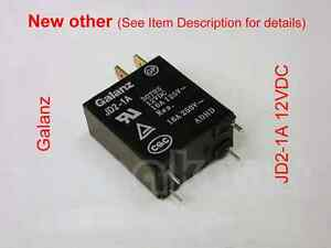 Details about Galanz JD2-1A 12VDC SPST Relay - New other