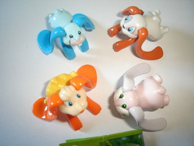 KINDER SURPRISE SET - FLYING BUNNIES RABBITS - TOYS FIGURES COLLECTIBLES