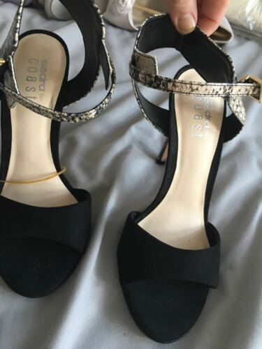 Suede Skin Straps Used Size Black 4 With Heels Coast Effect Hardly Snake tHqvOaqc