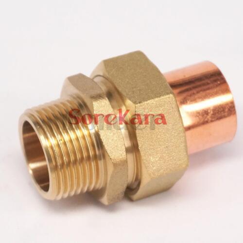"""1//2/"""" BSP x 15 mm Latón Rosca Macho Zócalo de unión a final de cobre montaje tubería de alimentación"""