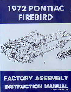 1972 pontiac firebird factory assembly manual ebay rh ebay com 1970 Firebird 1968 GTO