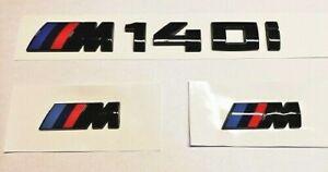 BMW-M140i-GLOSS-BLACK-REAR-BOOT-LID-M-SPORT-WING-BADGES-EMBLEM-SET-F20-F21
