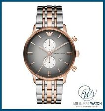 NEW Men's Emporio Armani Two-Tone Rose Gold & Silver Chrono Watch-AR1721-RRP£399