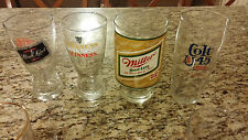 "VINTAGE BLACK LABEL BEER GLASS 6"" TALL MINT BAR DECOR MAN CAVE ALCOHOL"