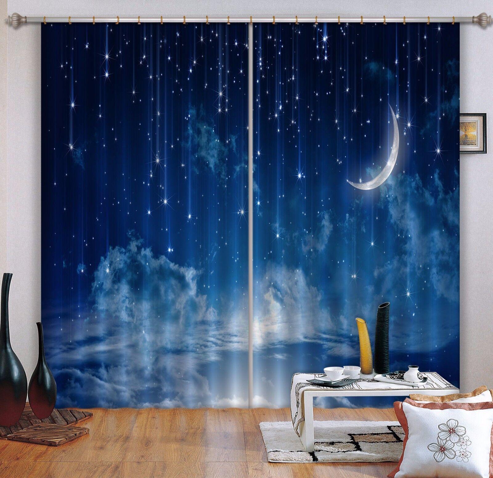 Cielo Estrellas 3D 10 Cortinas de impresión de cortina de foto Blockout Tela Cortinas Ventana au