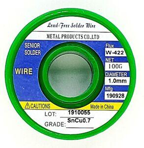 Tin-Solder-Wire-039-034-1-0mm-Lead-Free-Rosin-Core-Soldering-Sn99-3-Cu0-7-3-5oz