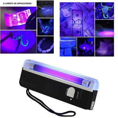 Handheld UV Black Light Torch Plastic Portable Blacklight With LED Flashlight