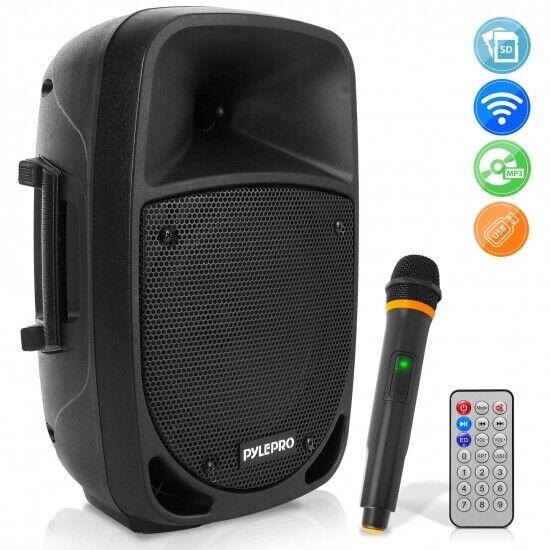 Pyle PSBT85A 800 Watt blueetooth PA Speaker, Rechargeable, w  Wireless Mic