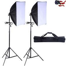 2X Lighting Softbox Stand Photography Photo Equipment Soft Studio Light Kit Set