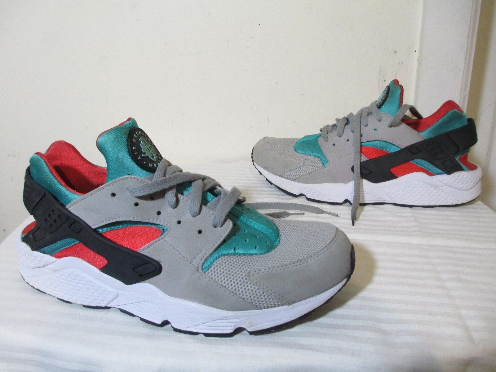 NIKE AIR HUARACHE 318429-023 MEN LIFESTYLE MULTICOLOR FLAT CASUAL SNEAKERS SZ 13