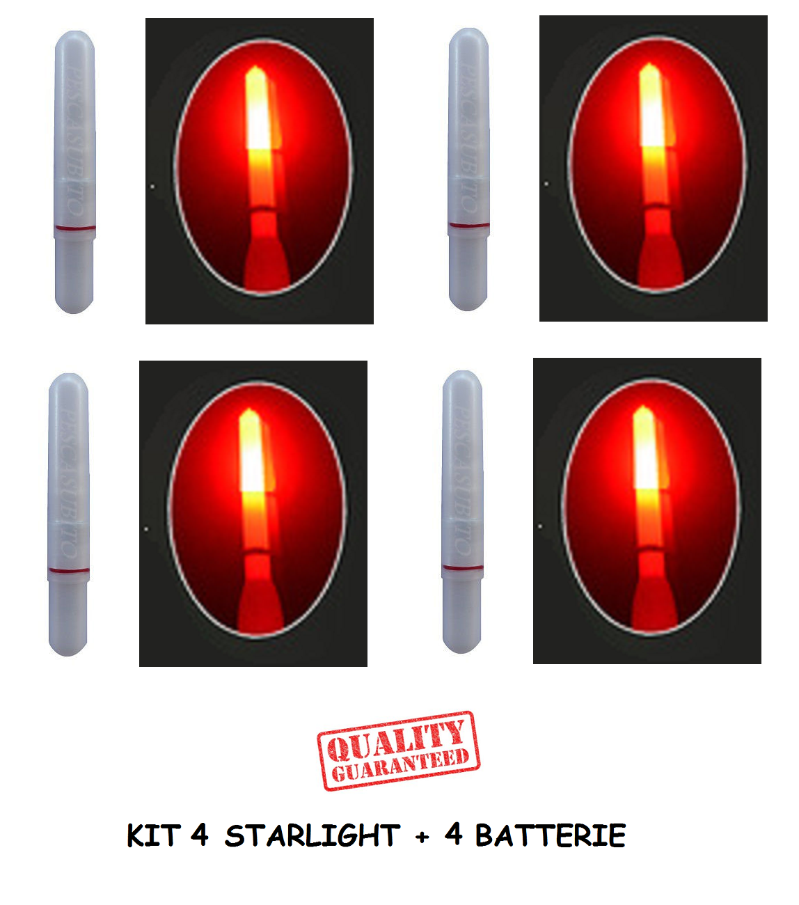 4922044 Scatola Starlight 4.5x39 2x50pz pesca x galleggiante luci notturne  PP
