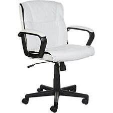 AmazonBasics Mid-back Office Chair White 2day Ship