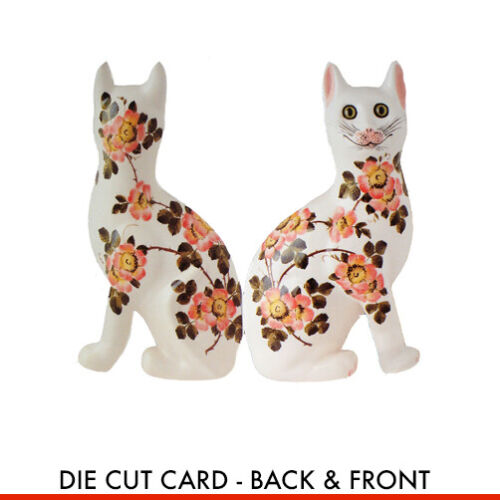 Bookmark Greeting Message Note Stationery WEMYSS WARE CAT BLANK CARD GIFT TAG