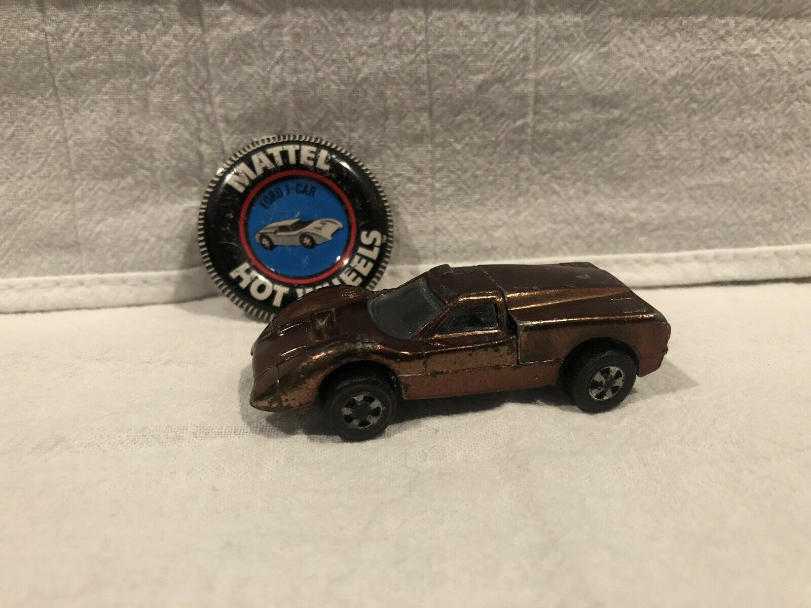 Hot Wheels Red Line Spectraflame Brown Ford J Car