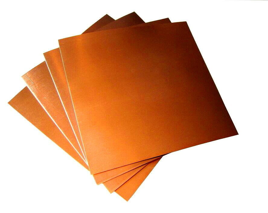 copper sheet, various thickness and sizes