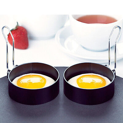 Amco houseworks round egg rings set of 2 egg cooking molds 2 pack kitchen