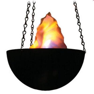 Fire Light Tiki Fake Flame Bowl Halloween Luau Christmas Church Theater