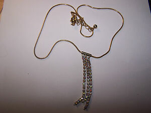 pretty gold tone and diamonte strands necklace  16034 snake chain - Birmingham, West Midlands, United Kingdom - pretty gold tone and diamonte strands necklace  16034 snake chain - Birmingham, West Midlands, United Kingdom