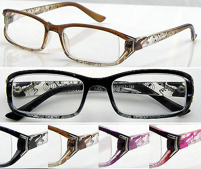L439 Womens Plastic Reading Glasses/Music Notes Pattern/Super Fashion/4 Colours