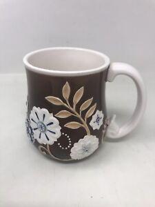 3D-Floral-Grasslands-Road-Melody-Ceramic-Coffee-Cup-Mug-VINTAGE-13OZ-NEW-W-box