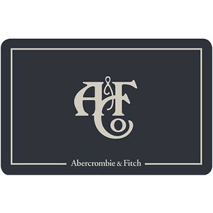 abercrombie fitch gift card 25 50 or 100 fast email delivery ebay. Black Bedroom Furniture Sets. Home Design Ideas