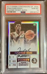 2017-18-Contenders-Jonathan-Isaac-Rookie-RC-Ticket-SSP-15-AUTO-PSA-10-HOT