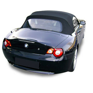 BMW-Z4-2003-2008-Convertible-Soft-Top-Replacement-amp-Glass-Window-Black-Stayfast