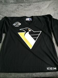 8e8863a4f Image is loading Vintage-Authentic-NHL-Pittsburgh-Penguins-Mario-Lemieux -Practice-