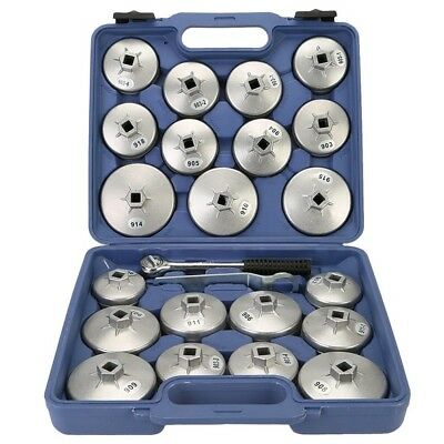 23Pcs Aluminum Alloy Cup Type Oil Filter Cap Wrench Socket Removal Service Tool