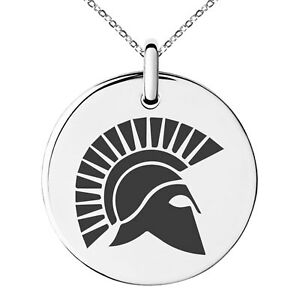 Stainless-Steel-Ares-Greek-God-of-War-Symbol-Charm-Necklace-or-Keychain