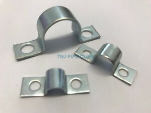 10 x Small Steel Pipe Saddle Clips 4, 5, 6, 7, 8, 10, 12, 15, 16, 18, 20 &22mm