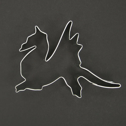 "DRAGON 4"" METAL COOKIE CUTTER KNIGHT MEDIEVAL SLAYER MYTHOLOGY FANTASY STENCIL"